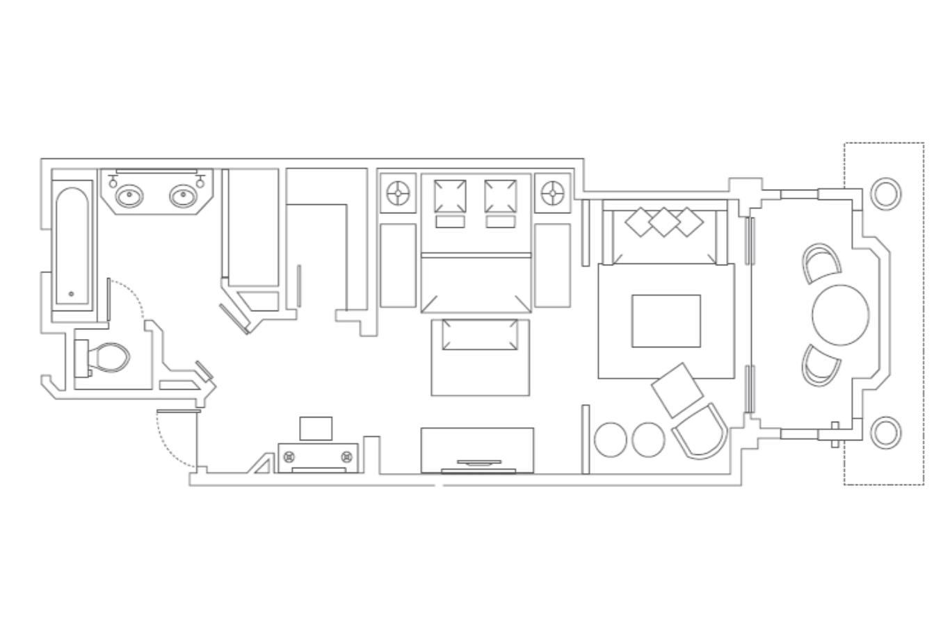 Floorplan Classic Pool Beach Family and Lux Junior