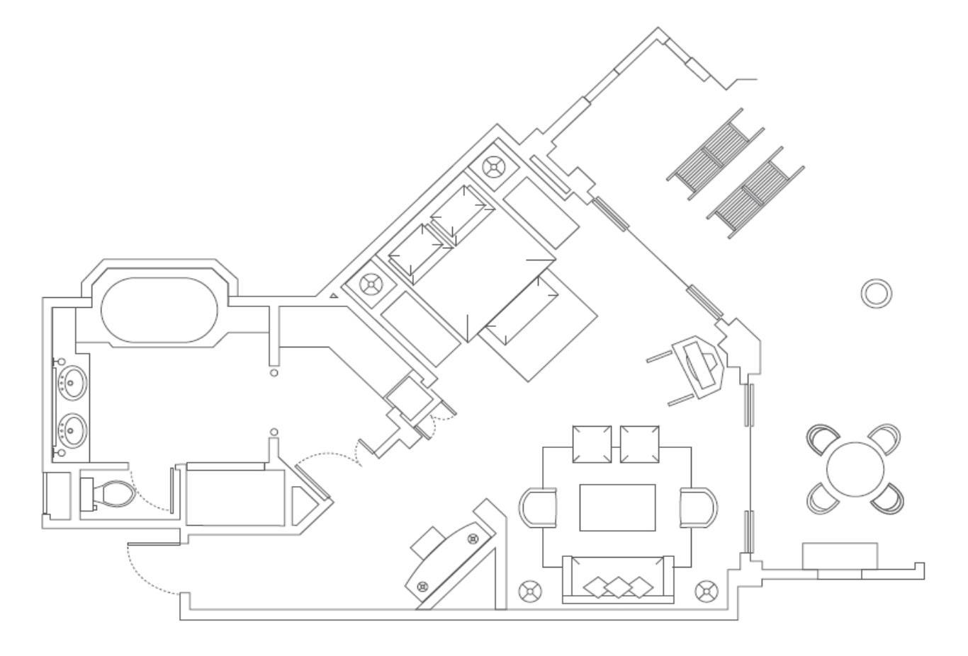 Floorplan Ocean Suite