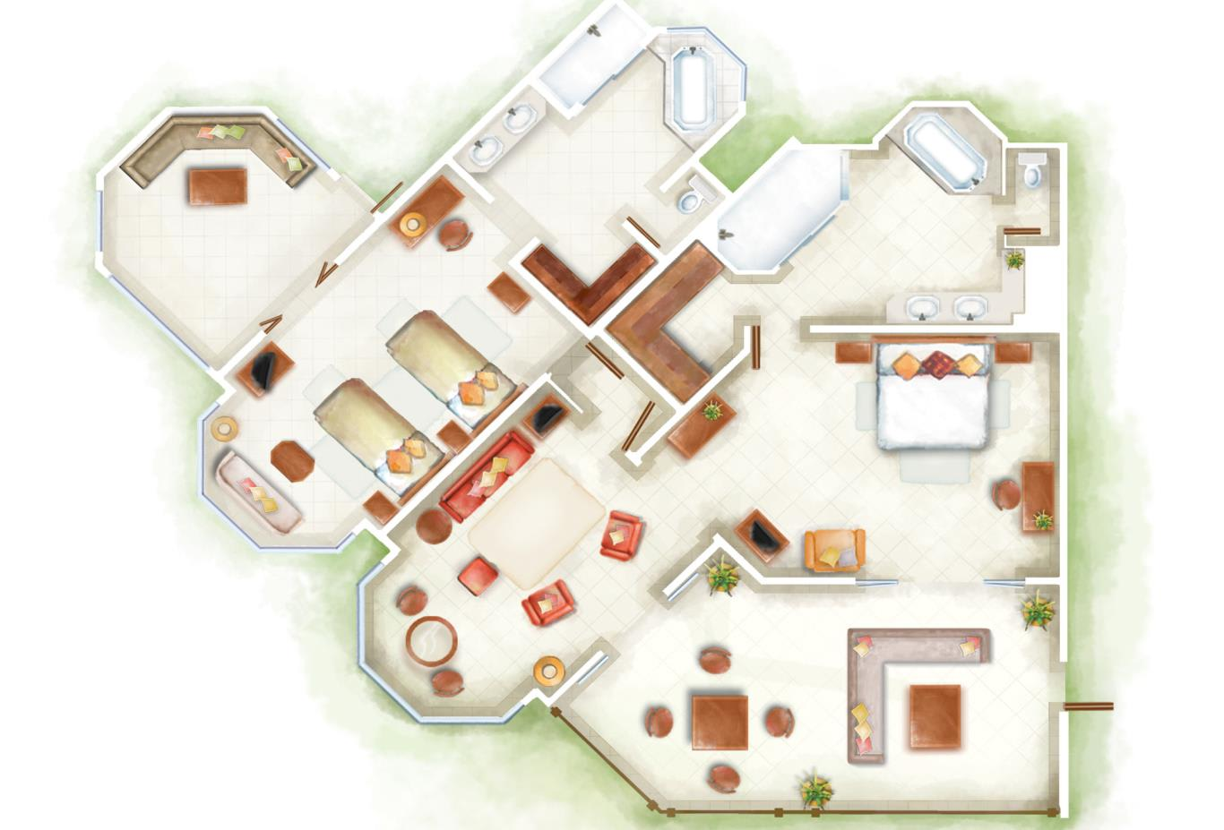 Club Luxury Family Suite Floorplan
