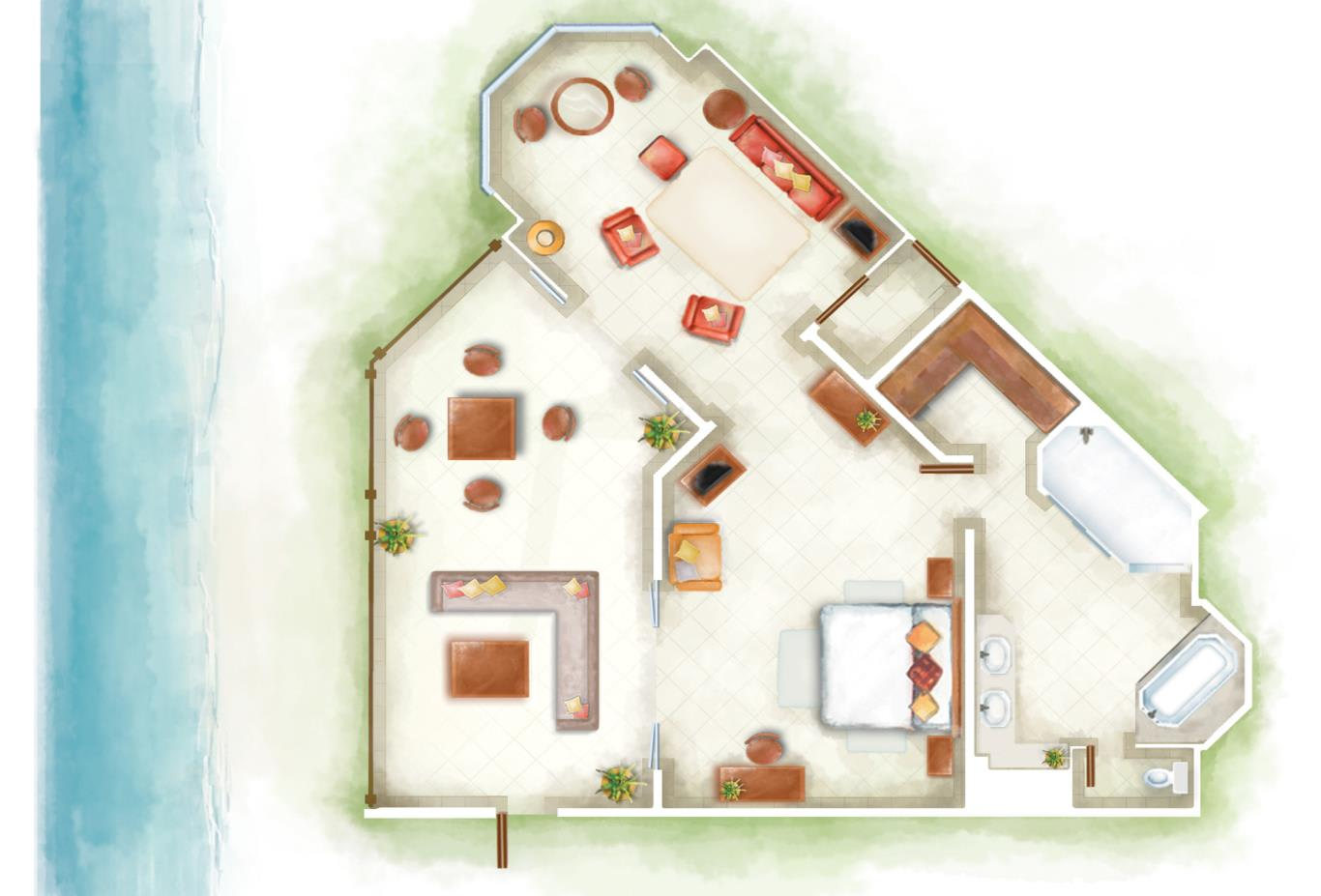 Club Senior Suite Floorplan