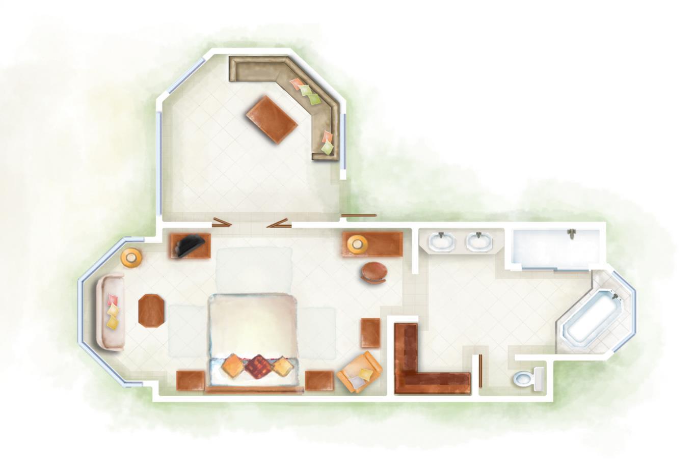 Junior Suite Club Junior Suite Beach Front Floorplan