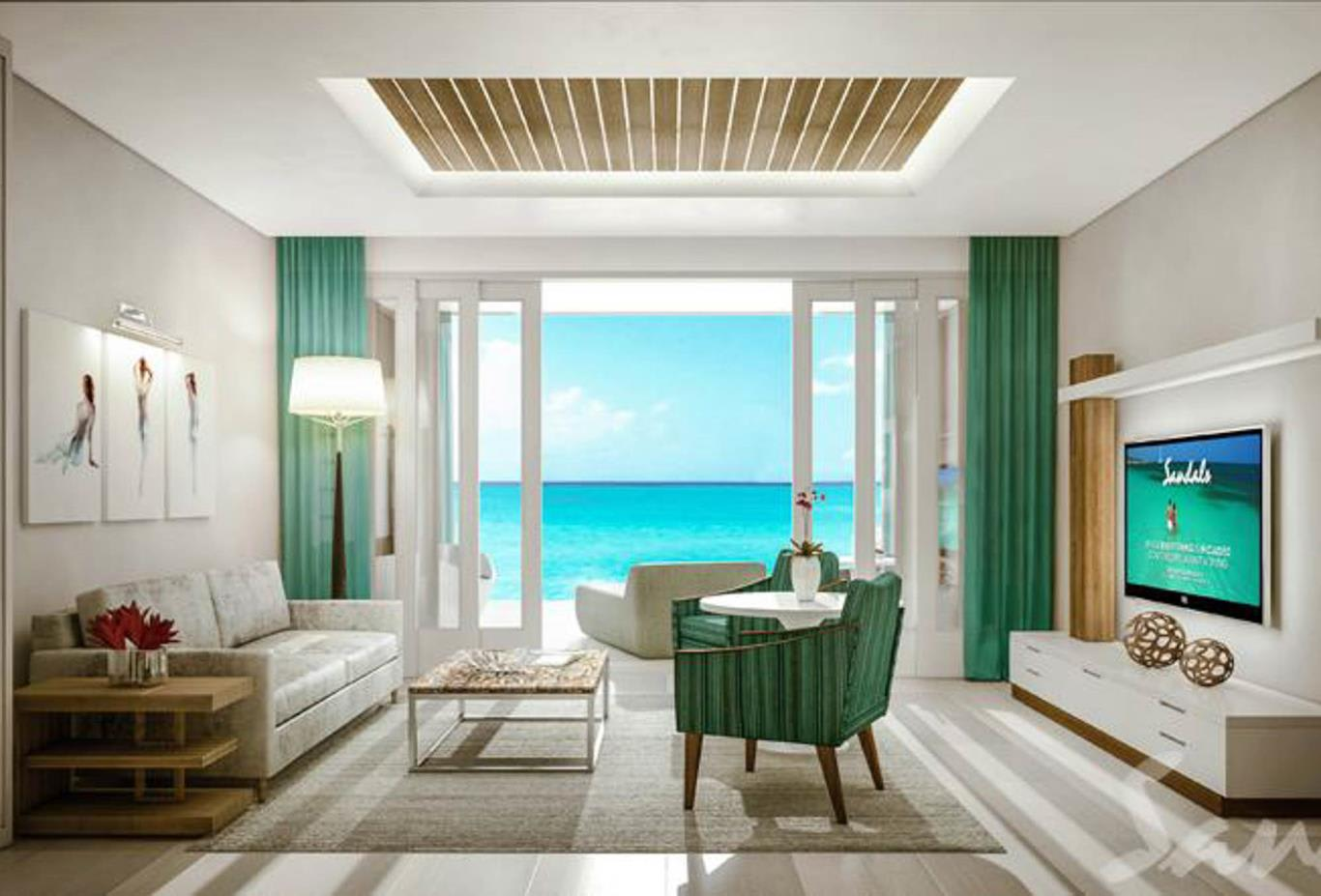 M1 - Beachfront Millionaire One Bedroom Butler Suite with Tranquillity Soaking Tub