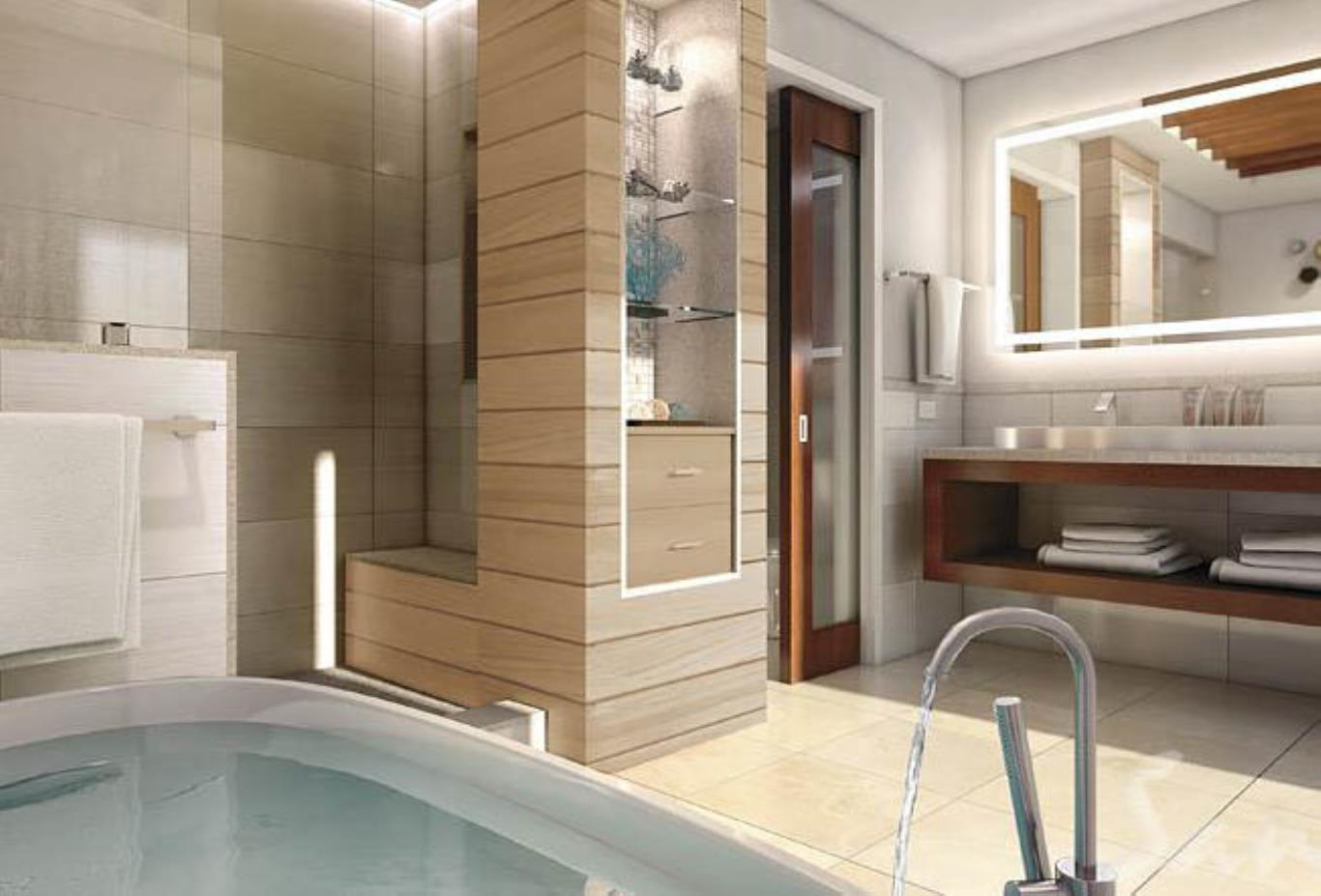 Caribbean Beachfront Walkout Grande Luxe Club Level Room Tranquility Soaking Tub - WGBT