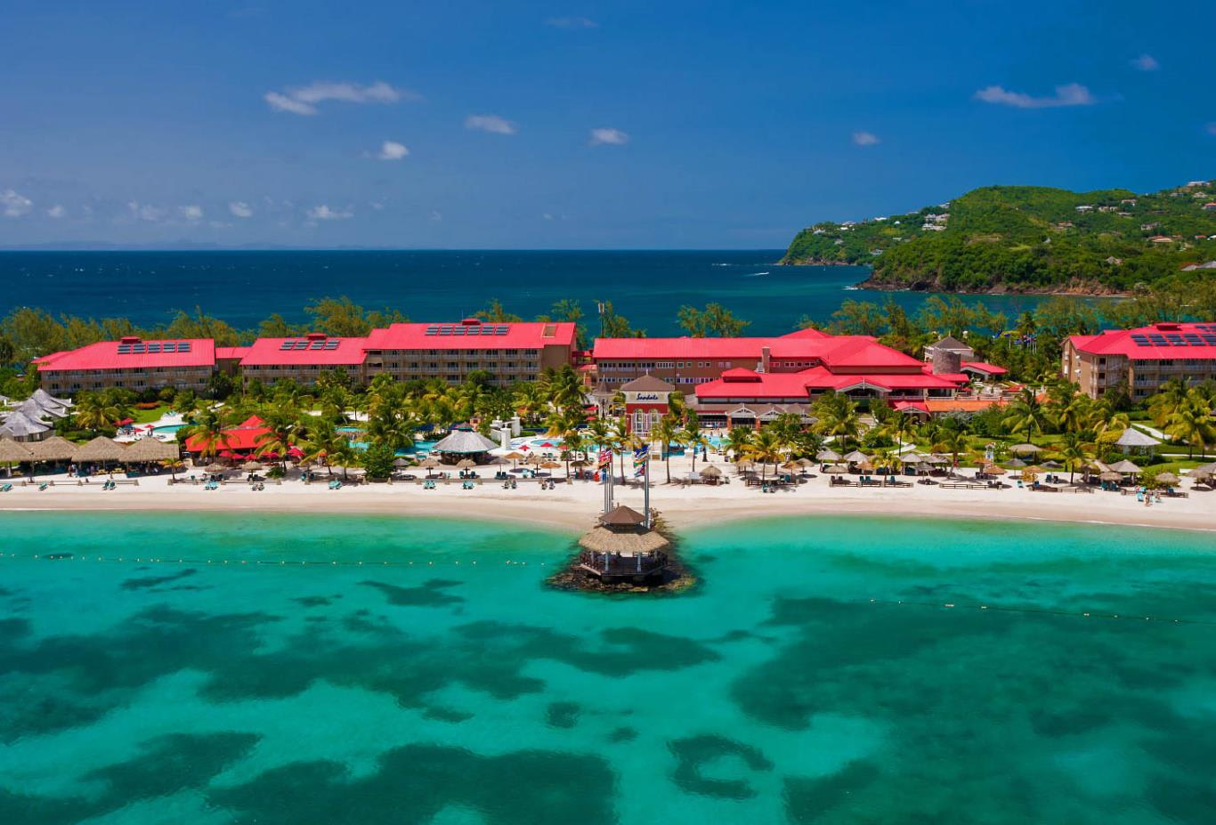 2222225f7783 Sandals Grande St Lucian Spa And Beach Resort. Destinology Recommended.  Aerial View