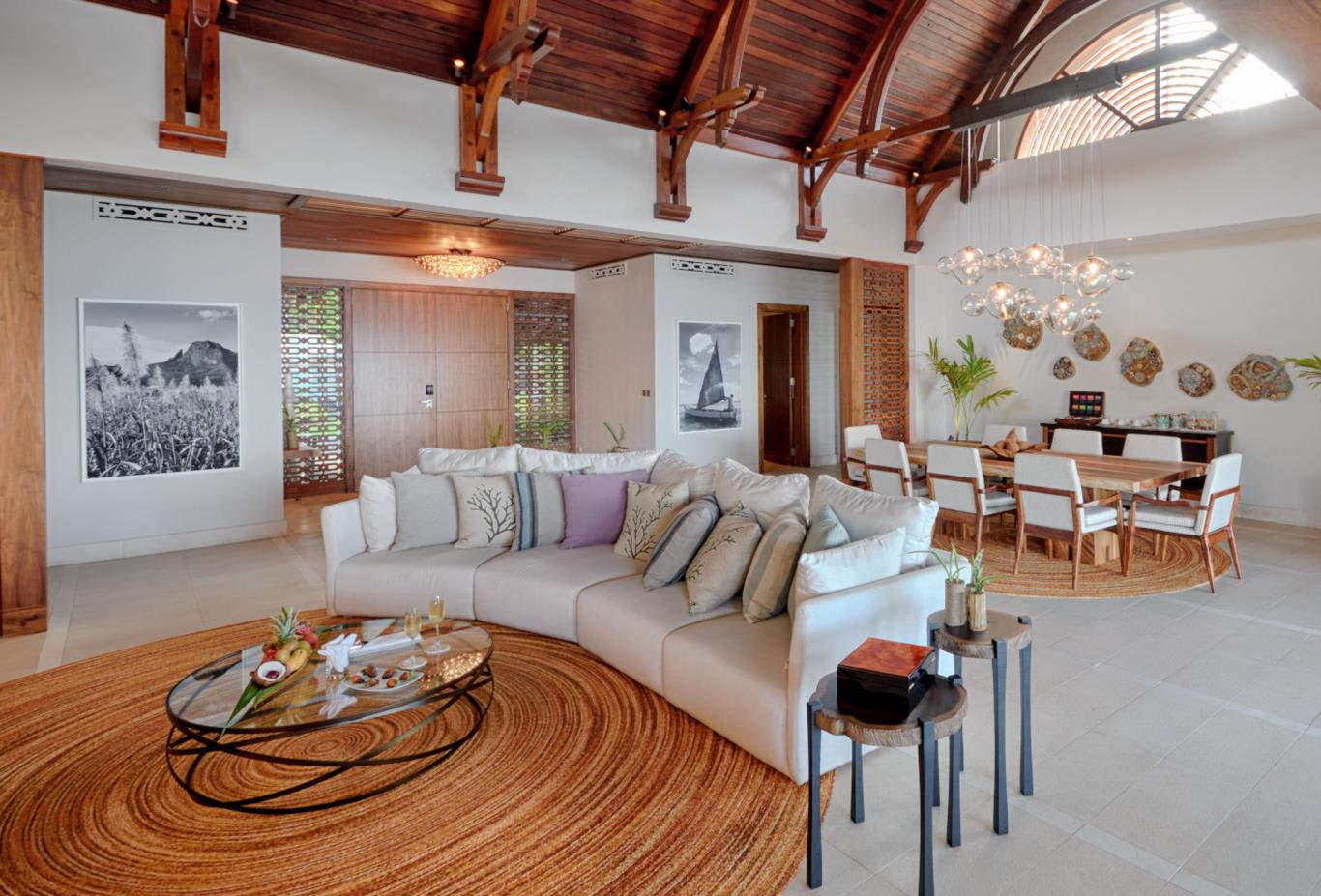 Beach Villa living