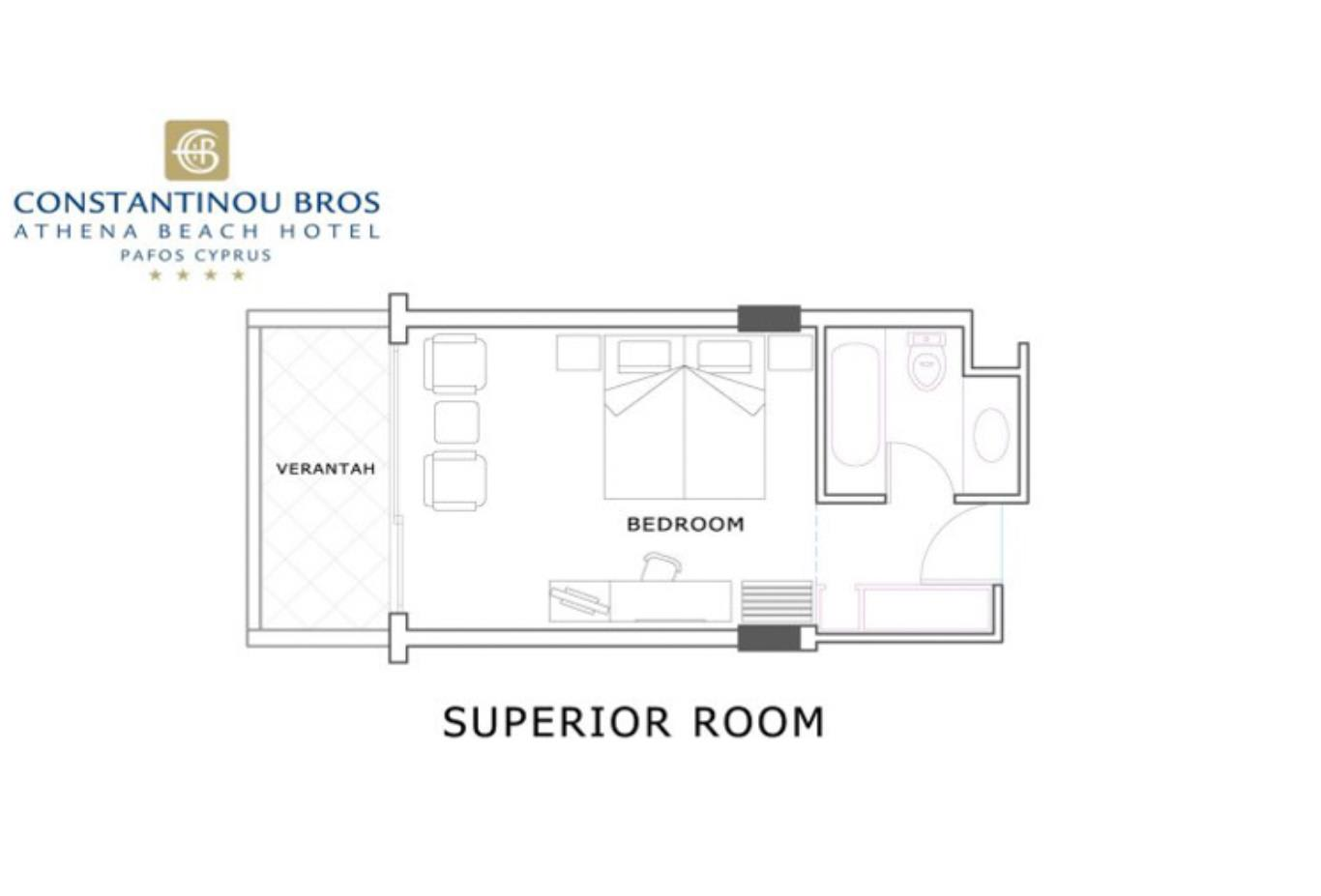 Twin Room land View plan