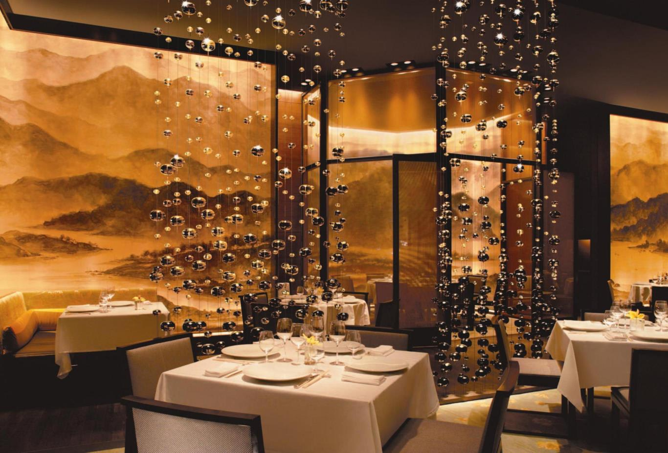 The Mirage Fin Dining Room with Art Wall