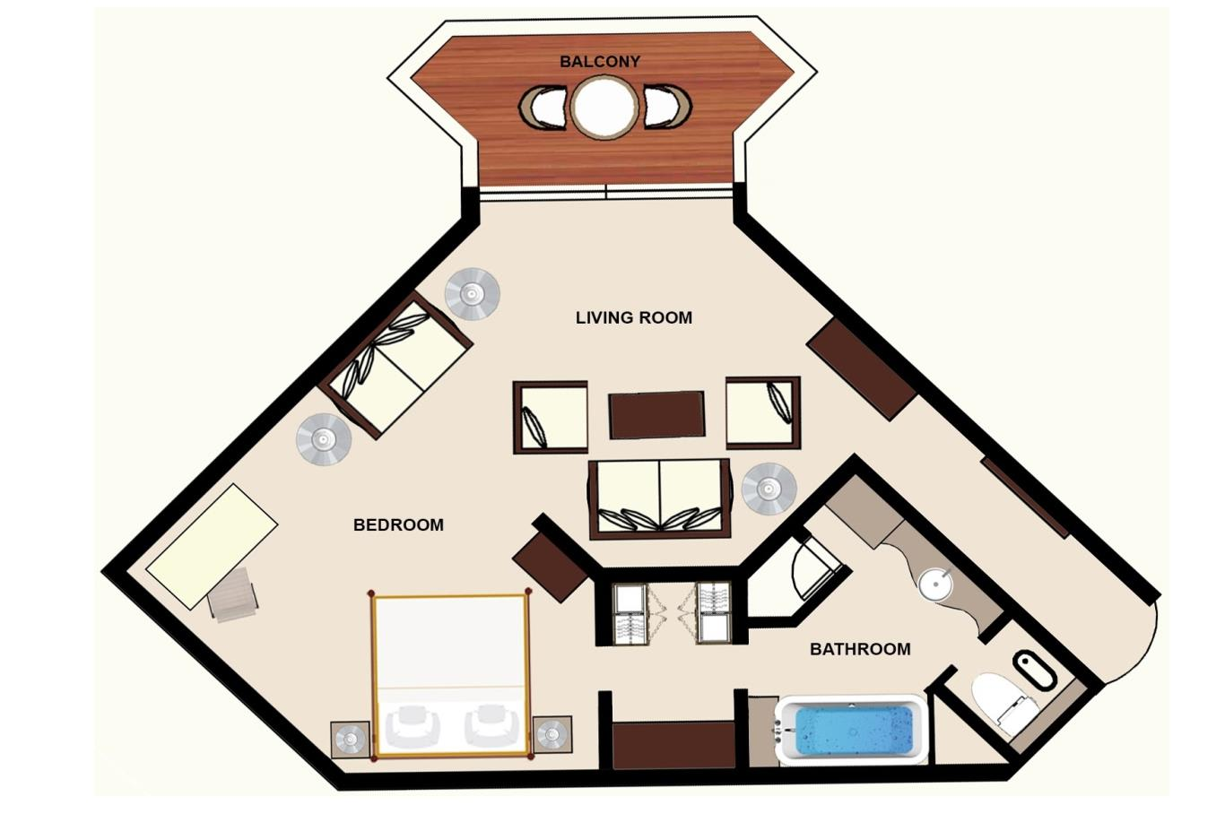 Floorplan Colonial Garden View Junior Suite