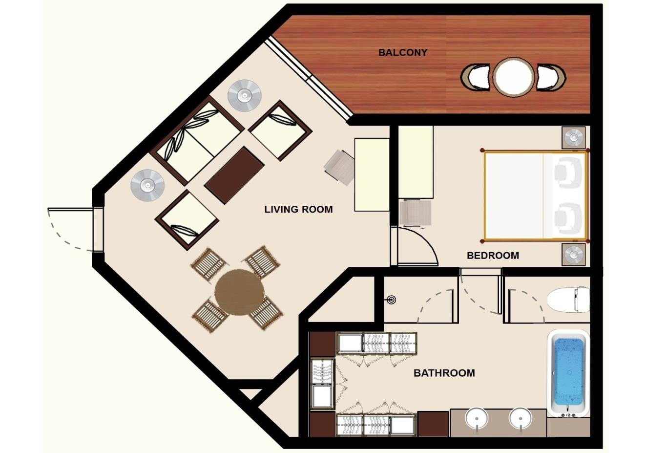Floorplan Colonial Garden View Senior Suite