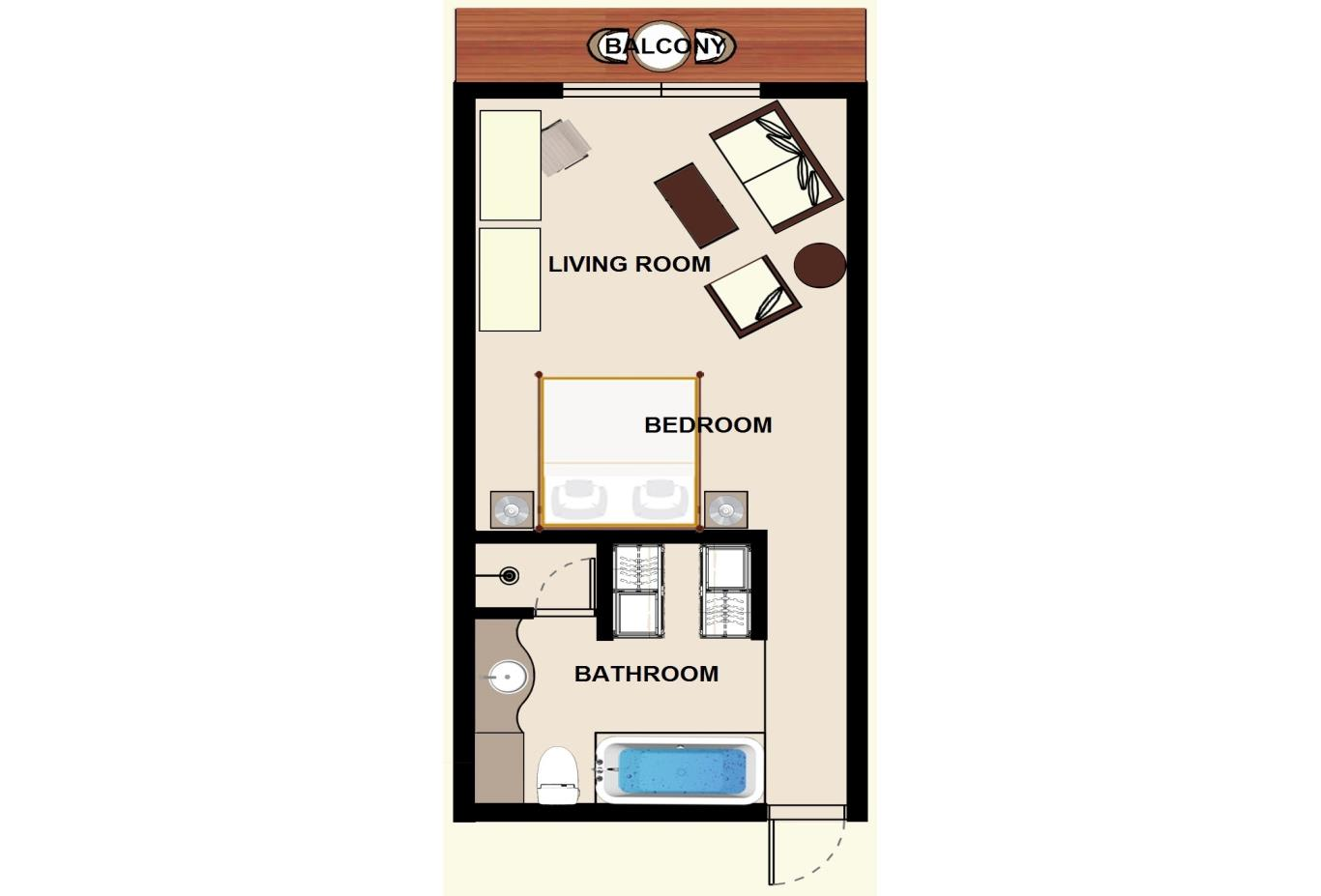 Floorplan Colonial Ocean Front Room