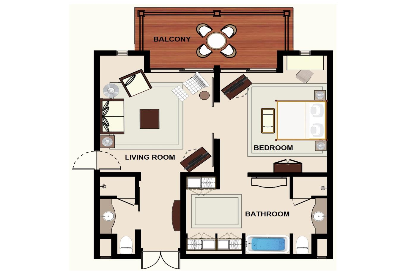 Floorplan Colonial Ocean Front Suite