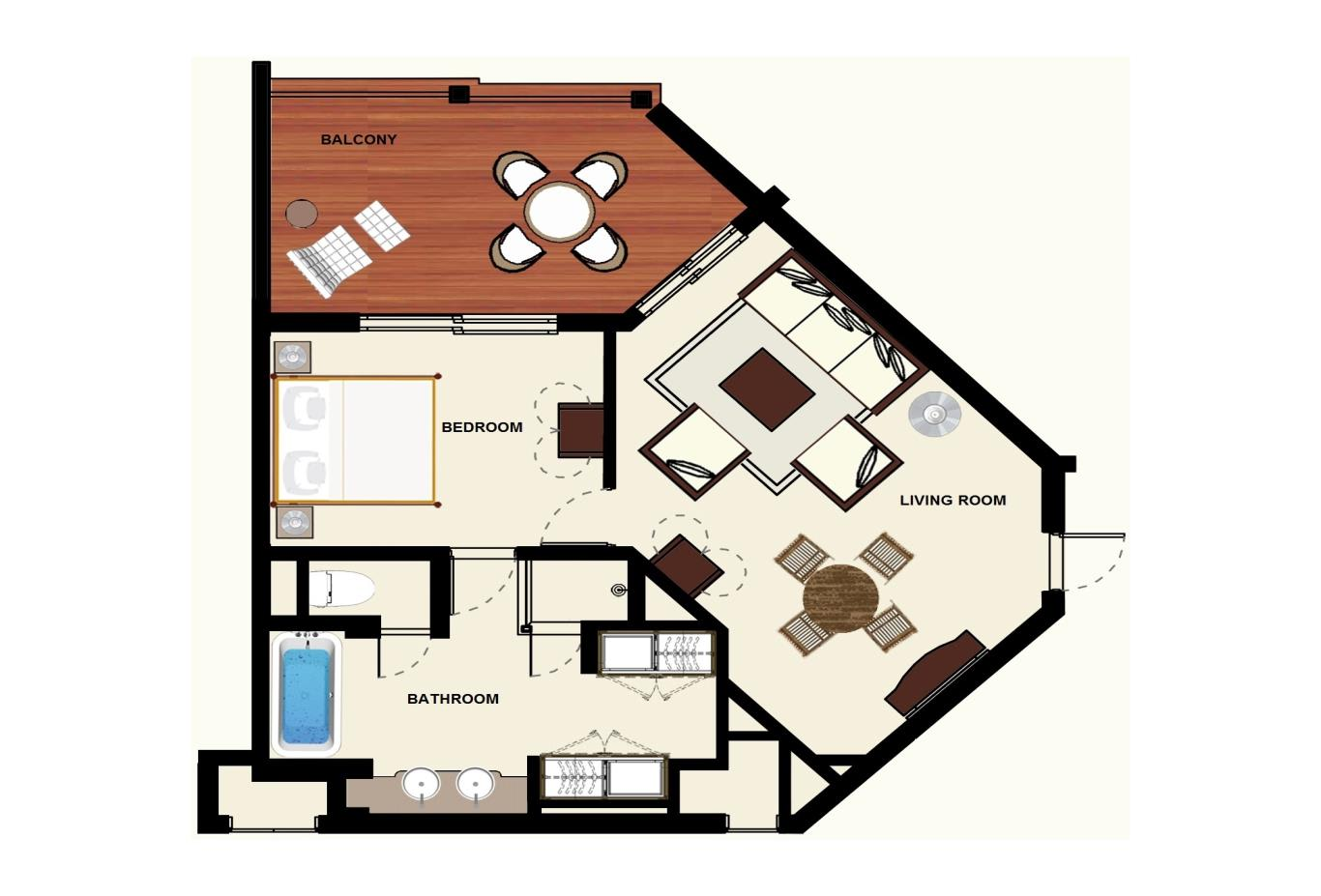 Floorplan Colonial Ocean View Suite