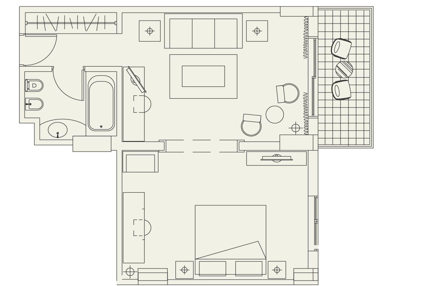 Floorplan Artemis Suite