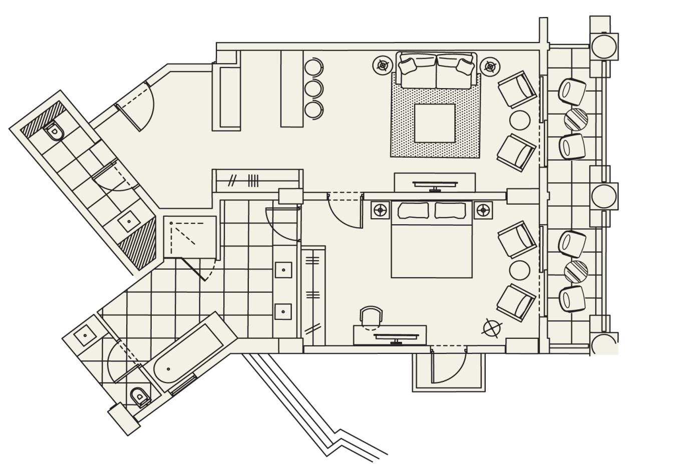 Floorplan Queen Verenikis Suite