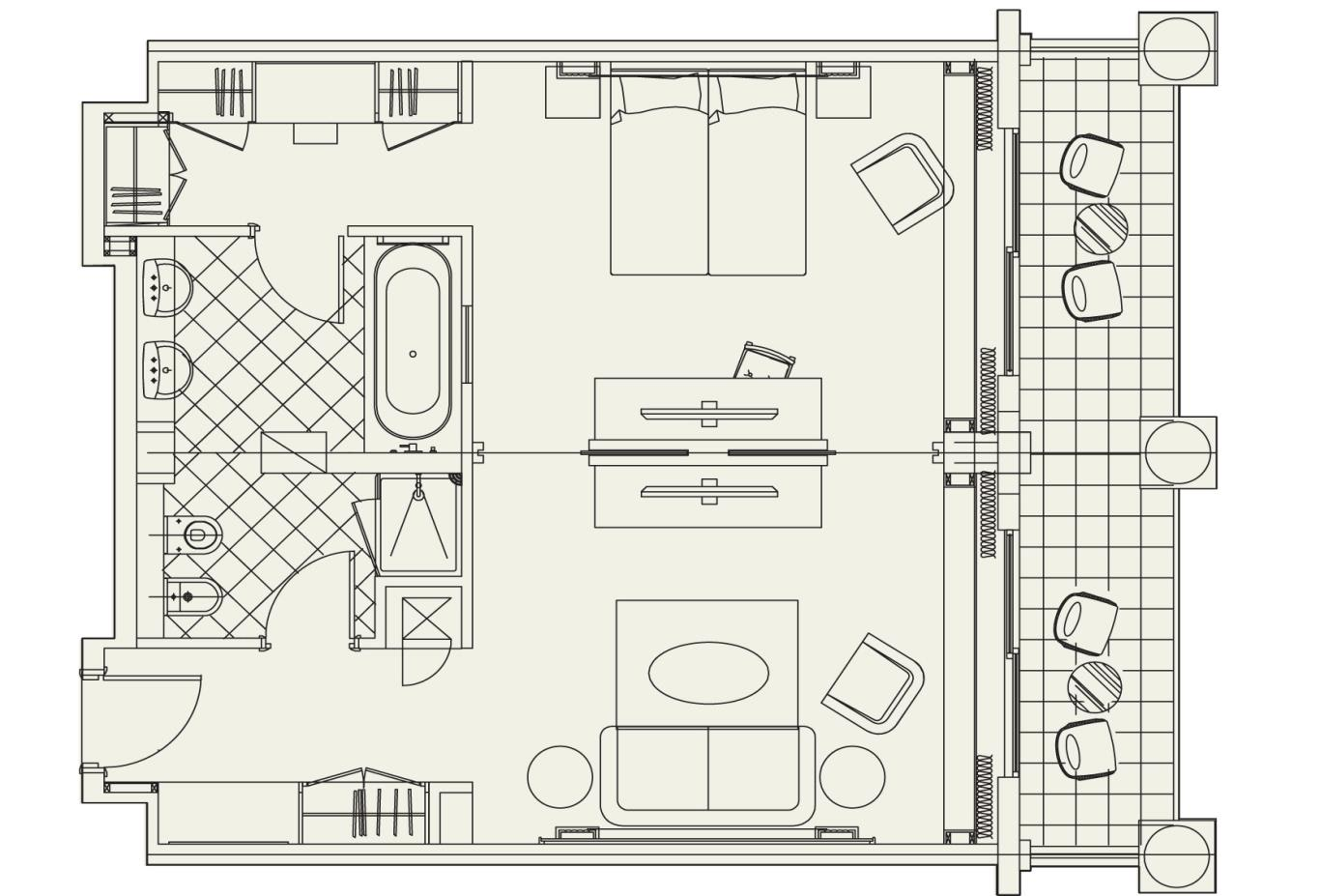 Floorplan Thalia Suite