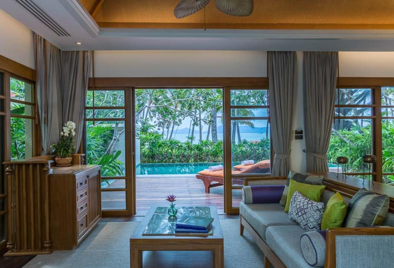 Two Bedroom Grand Deluxe Beachfront Villa with Private Pool