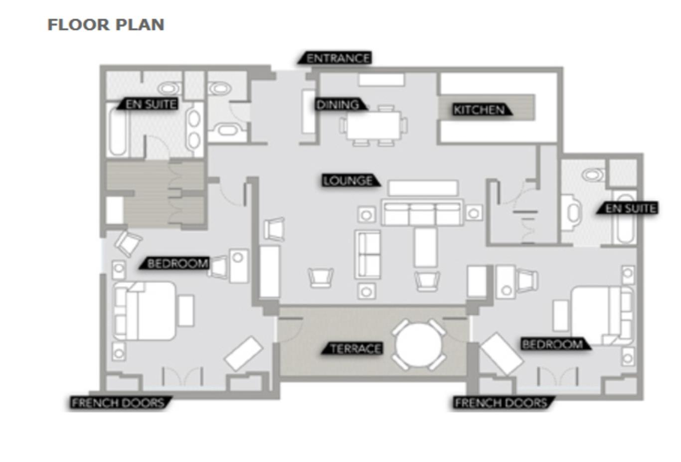Two Bedroom Suite Floorplan