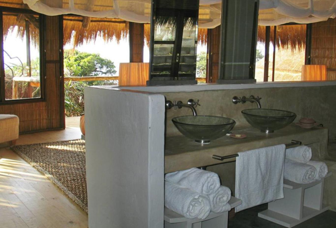 Ocean view bathroom