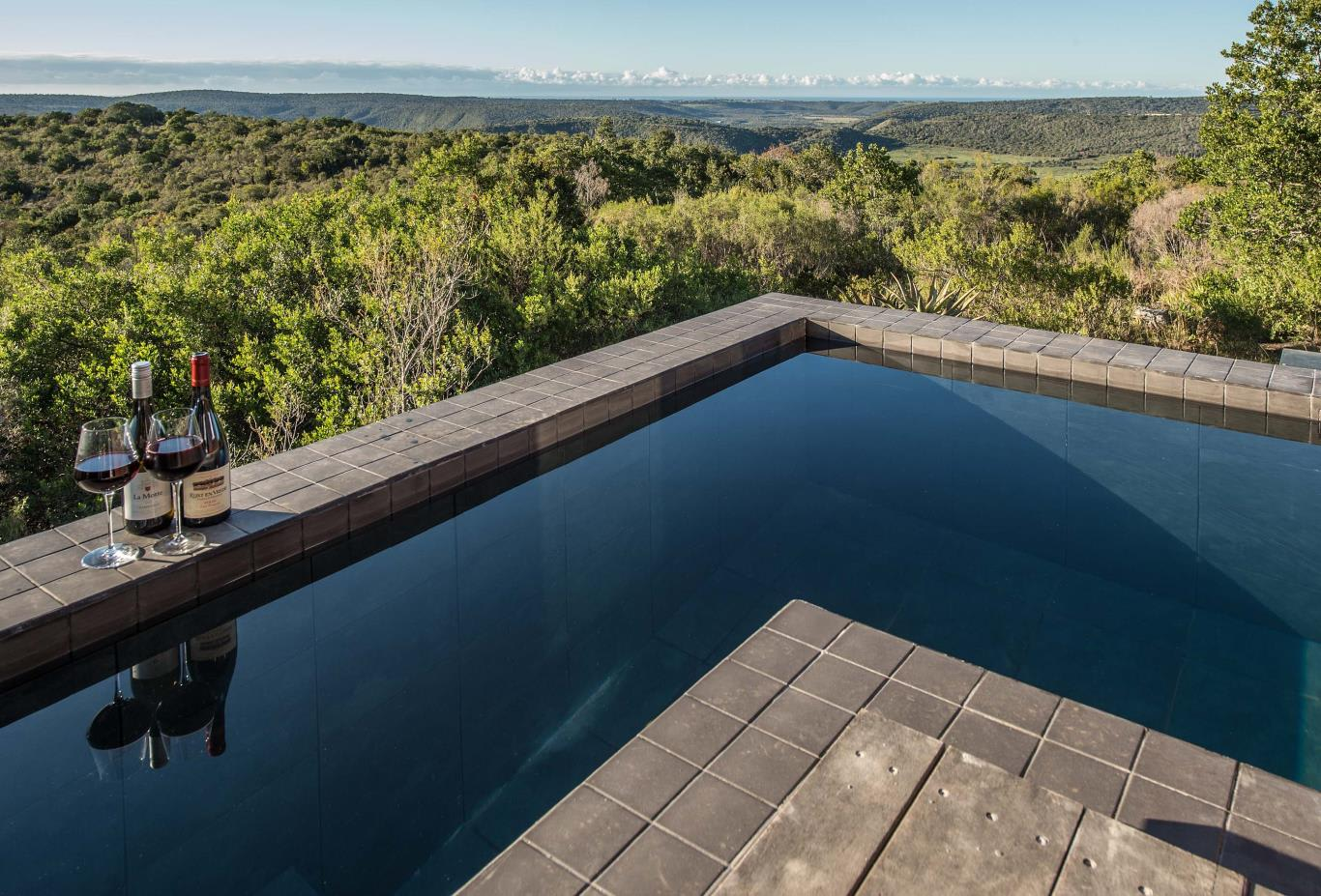 Plunge pool for each suite
