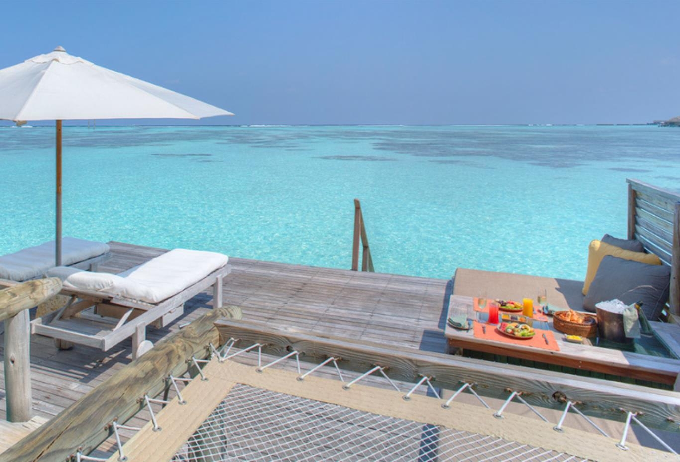 Villa outdoor sun deck and catamaran nets