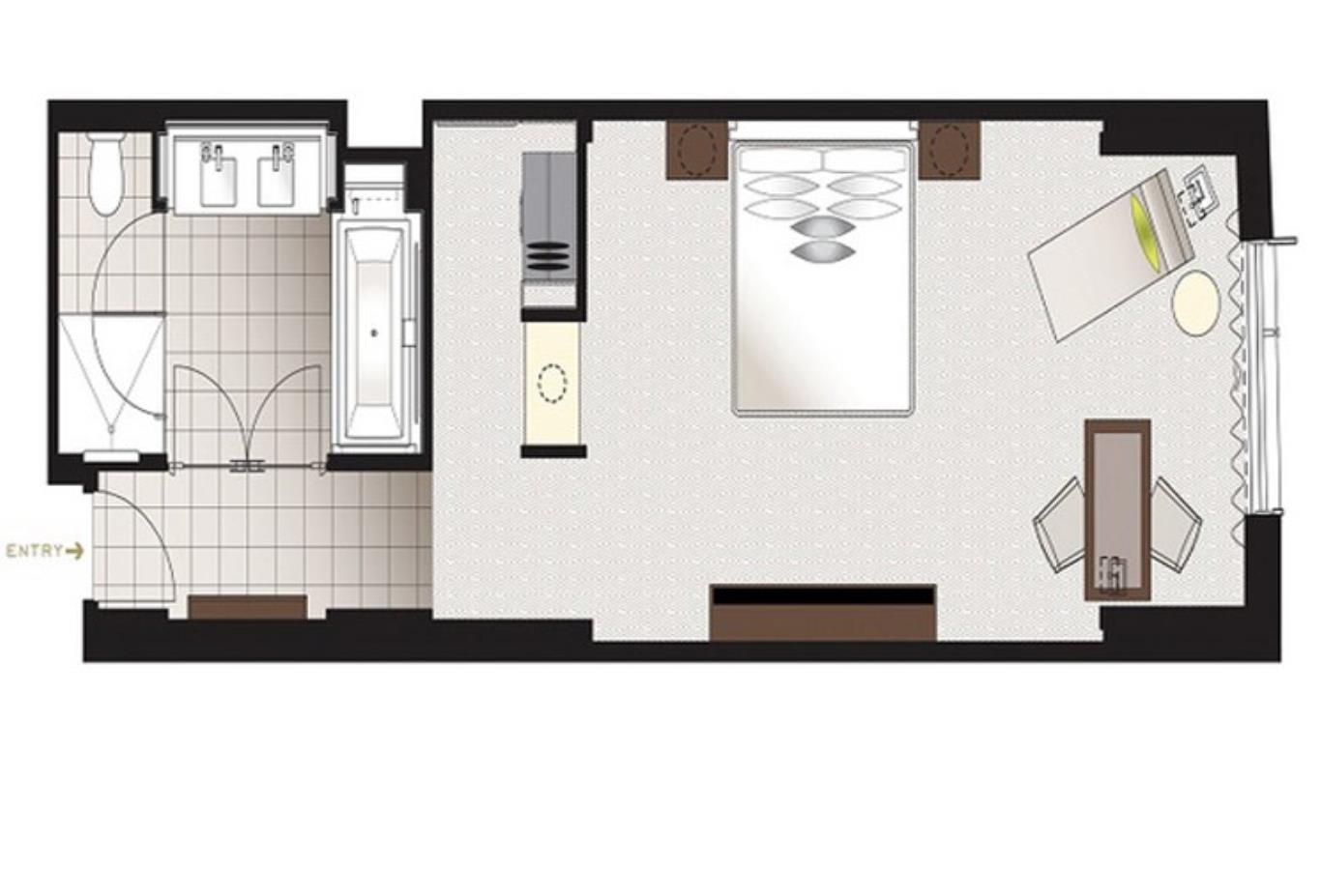 Deluxe Room Floorplan