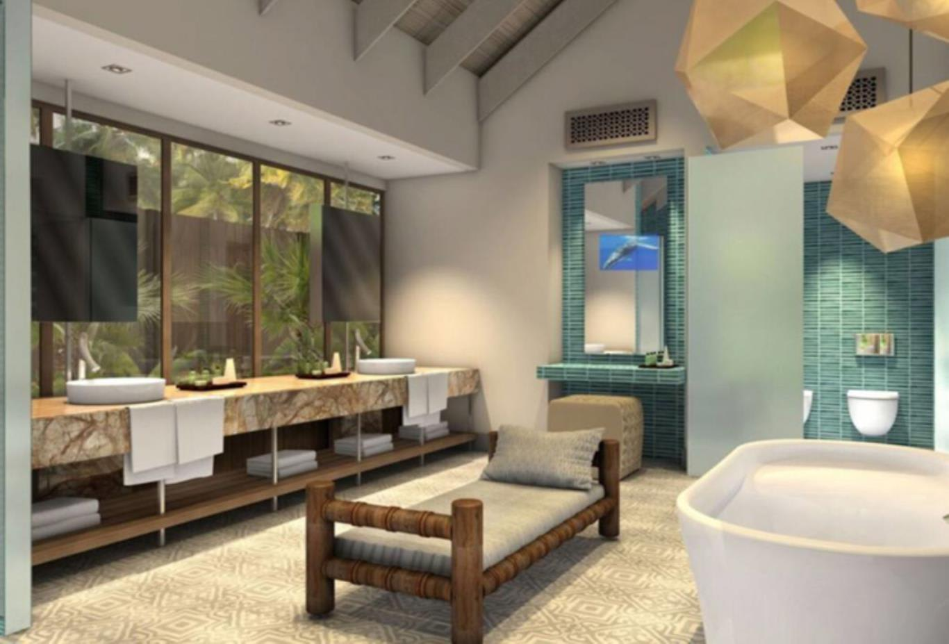 3 Bedroom presidential villa bathroom