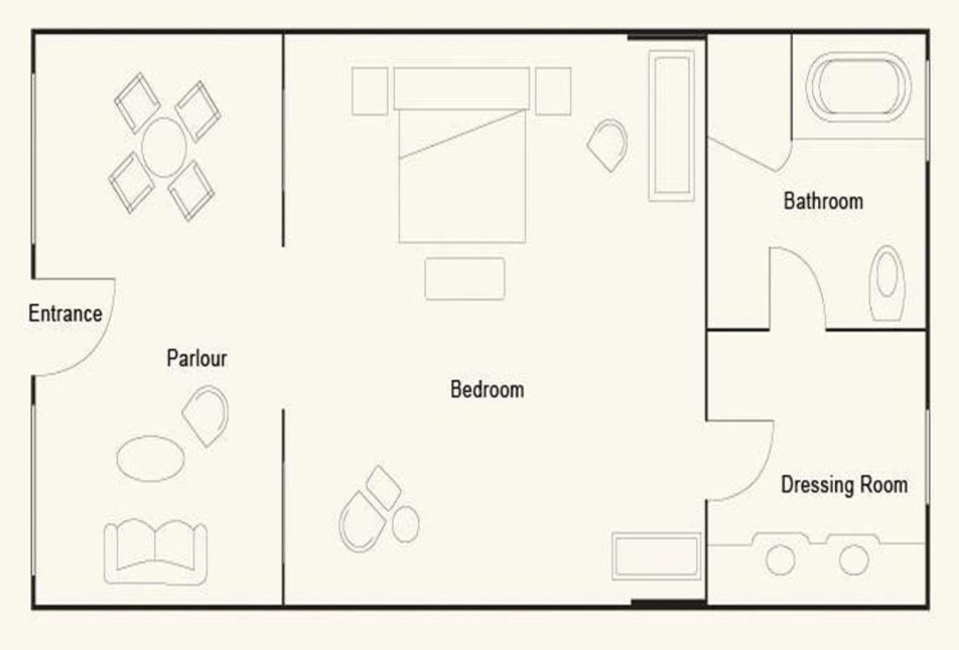 Floorplan of Courtyard Suite
