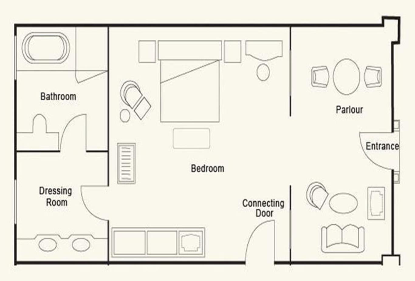 Floorplan of Personality Suite