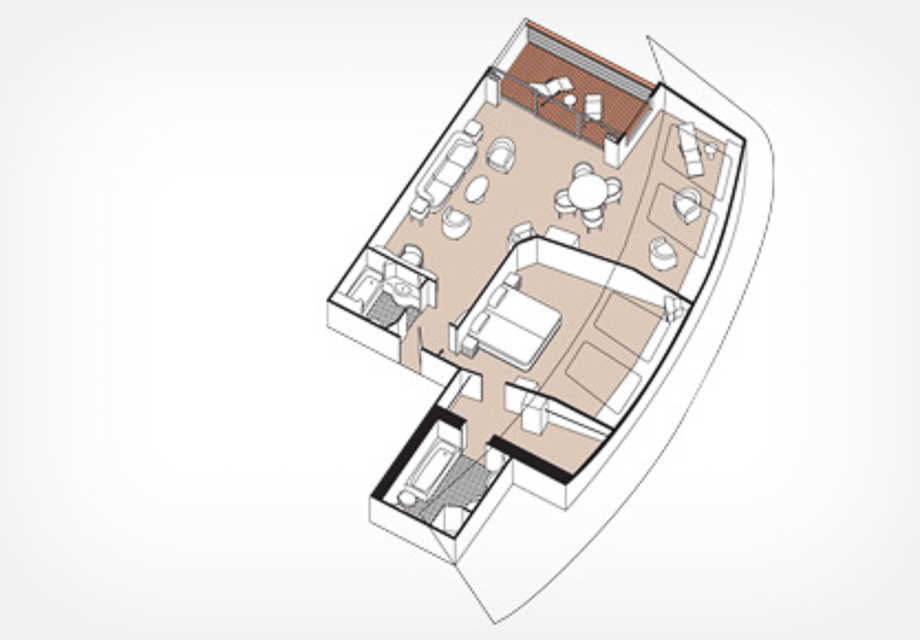 Seven Seas Mariner - Rooms - Grand Suite - Plan