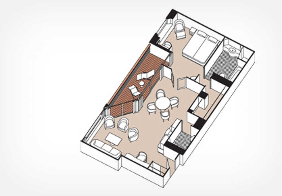 Seven Seas Mariner - Rooms - Mariner Suite - Plan