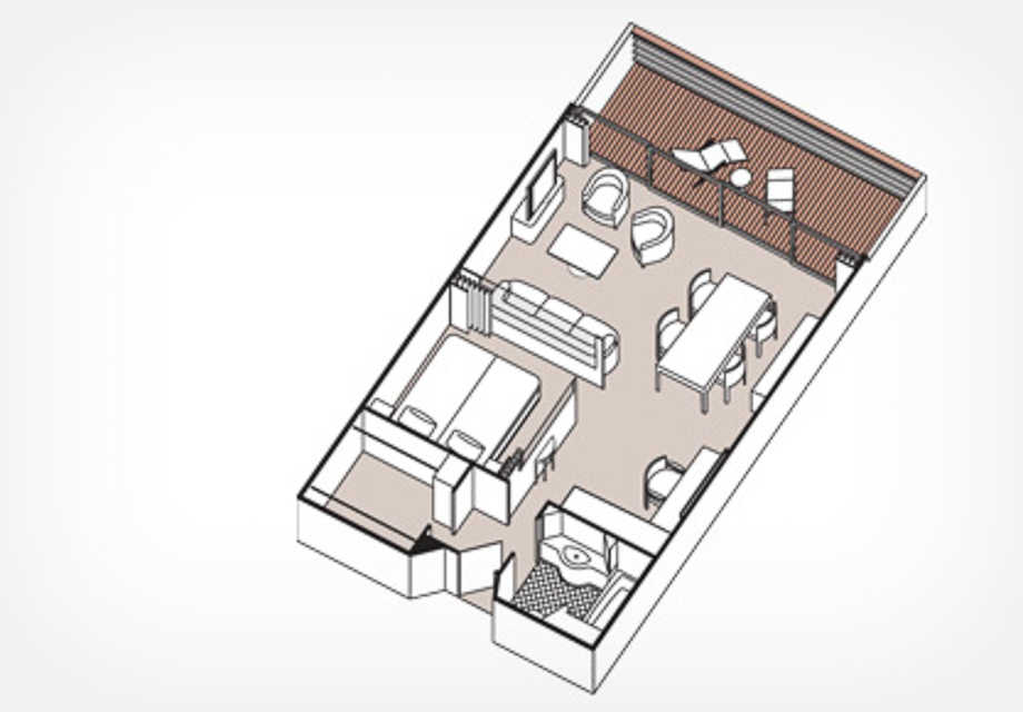 Seven Seas Mariner - Rooms -  Seven Seas Forward Suite - Plan