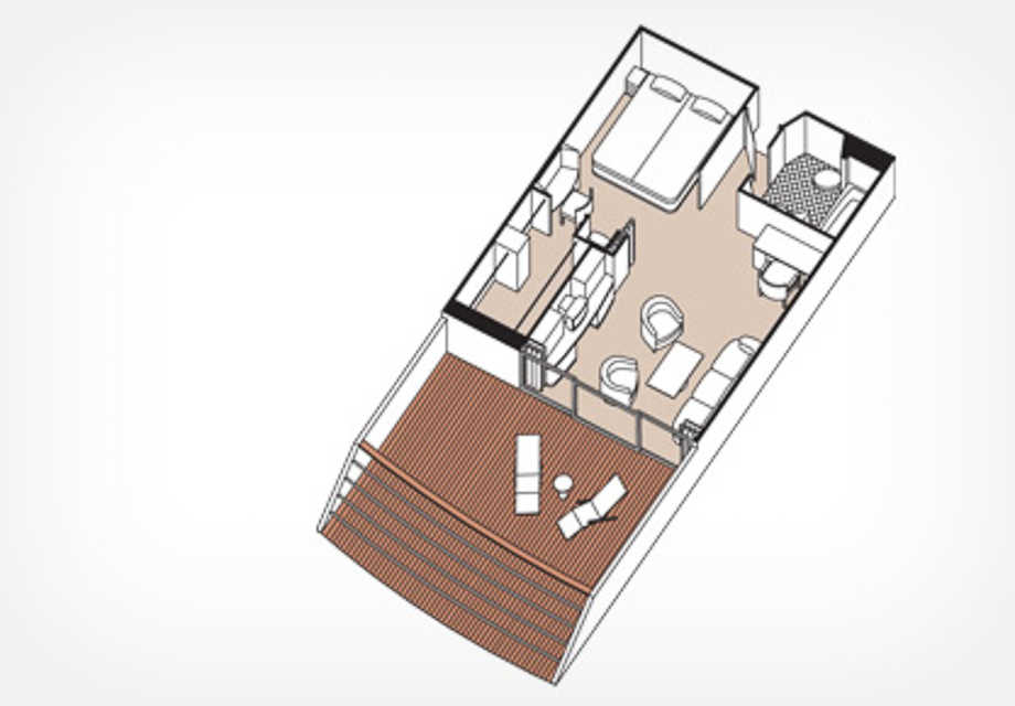 Seven Seas Mariner - Rooms - Horizon VIew Suite - Plan