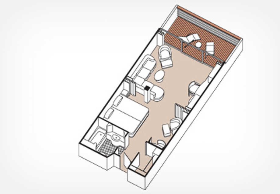Seven Seas Mariner - Rooms - Penthouse - Plan