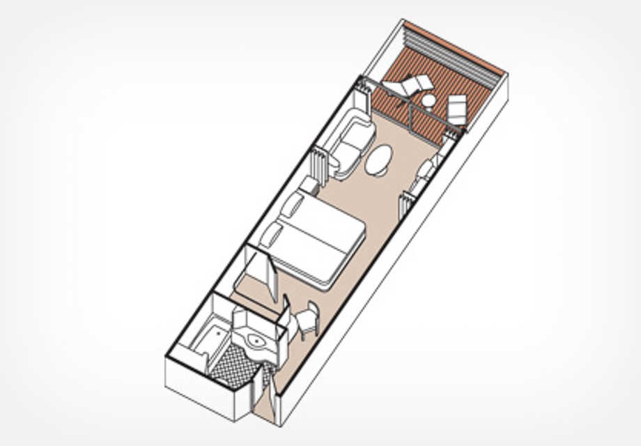 Seven Seas Mariner - Rooms - Concierge Suite - Plan