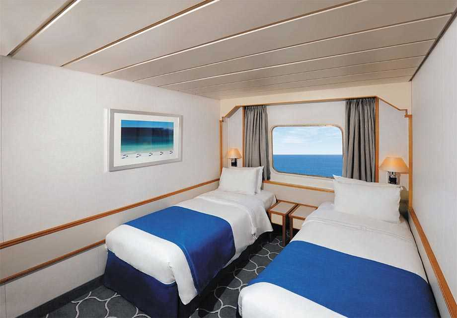 Ocean View Stateroom - Twin Beds