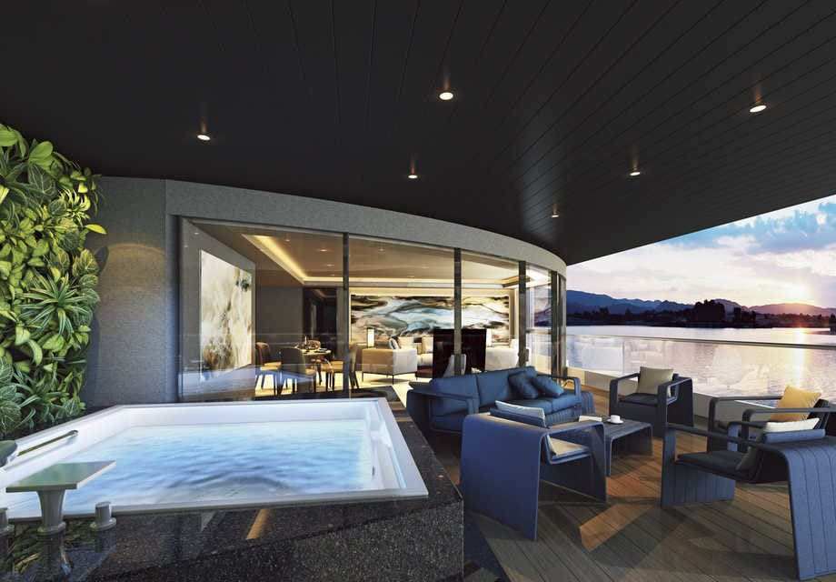 Scenic Eclipse - Owner's Penthouse Terrace and Jacuzziuse