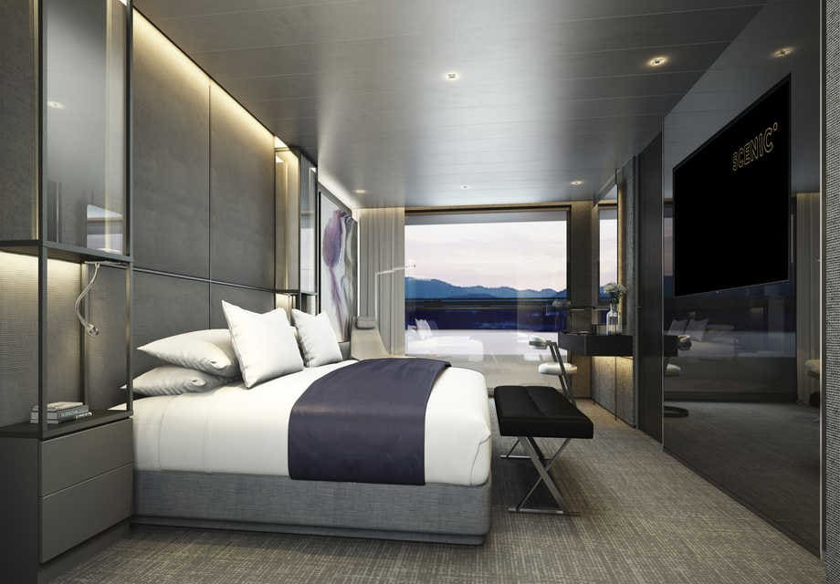 Scenic Eclipse - Grand Panorama Suite Bedroomuse