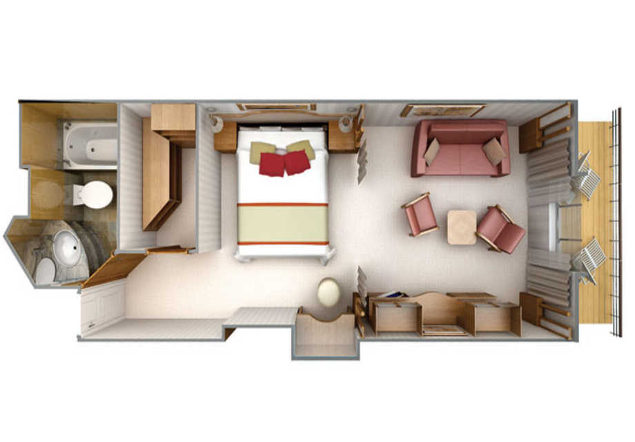 Silver Cloud - Rooms - Deluxe Veranda Suite - Plan