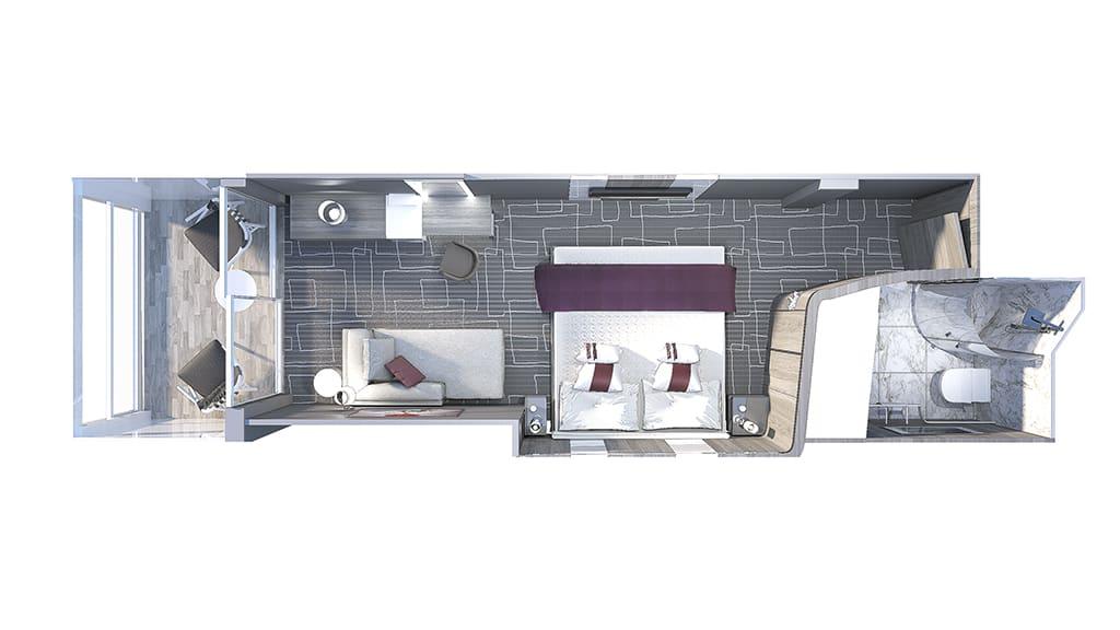 deluxe oceanvview stateroom with veranda
