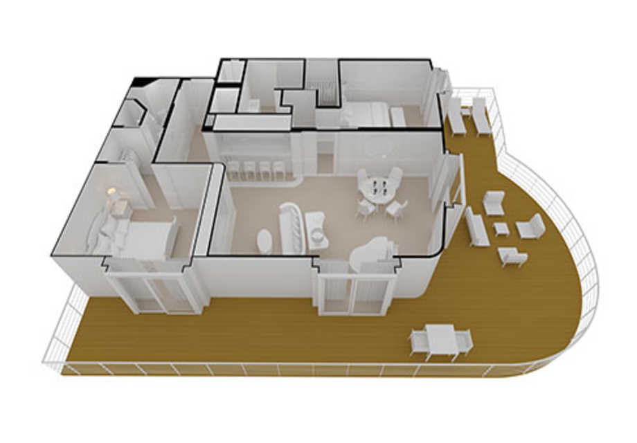 Seven Seas Splendor - Rooms - Master Suite - Plan