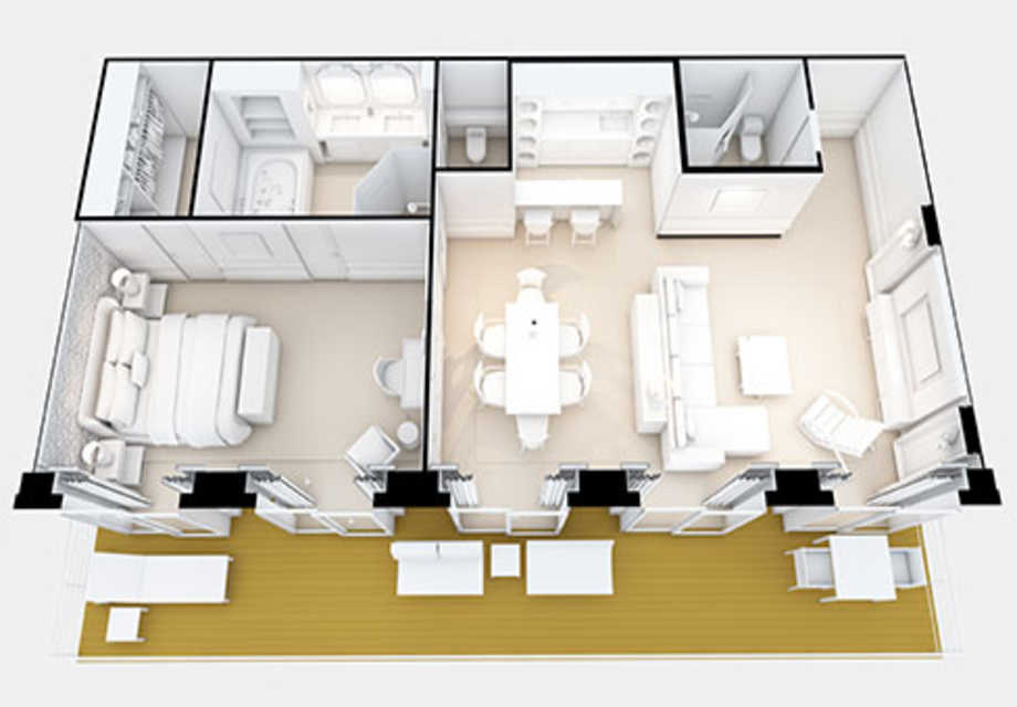 Seven Seas Explorer - Rooms - Grand Suite - Plan