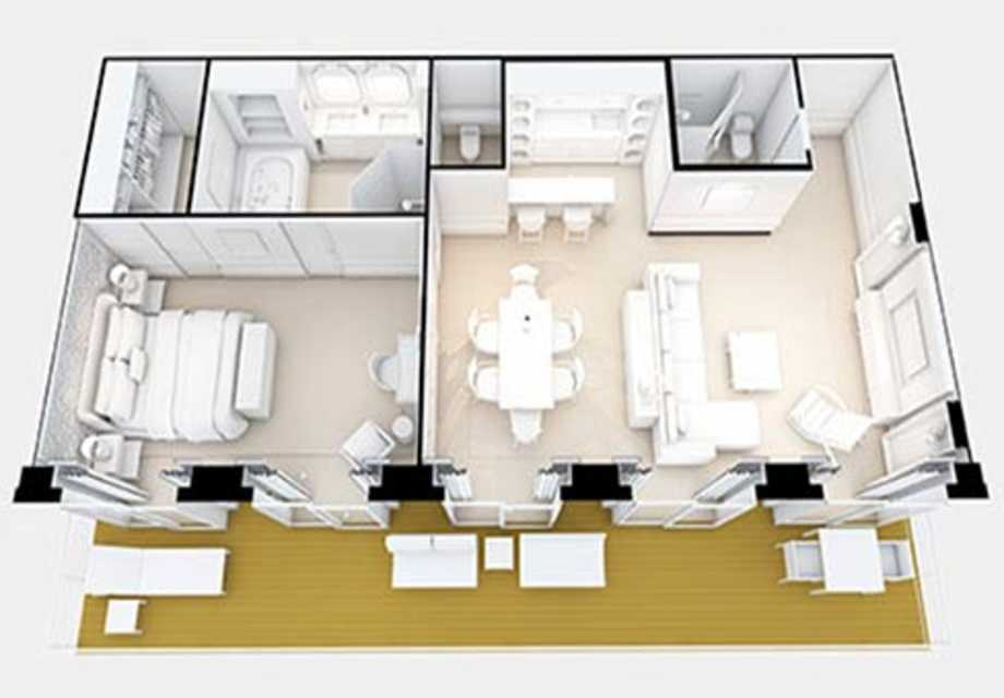 Seven Seas Explorer - Rooms - Explorer Suite - Plan