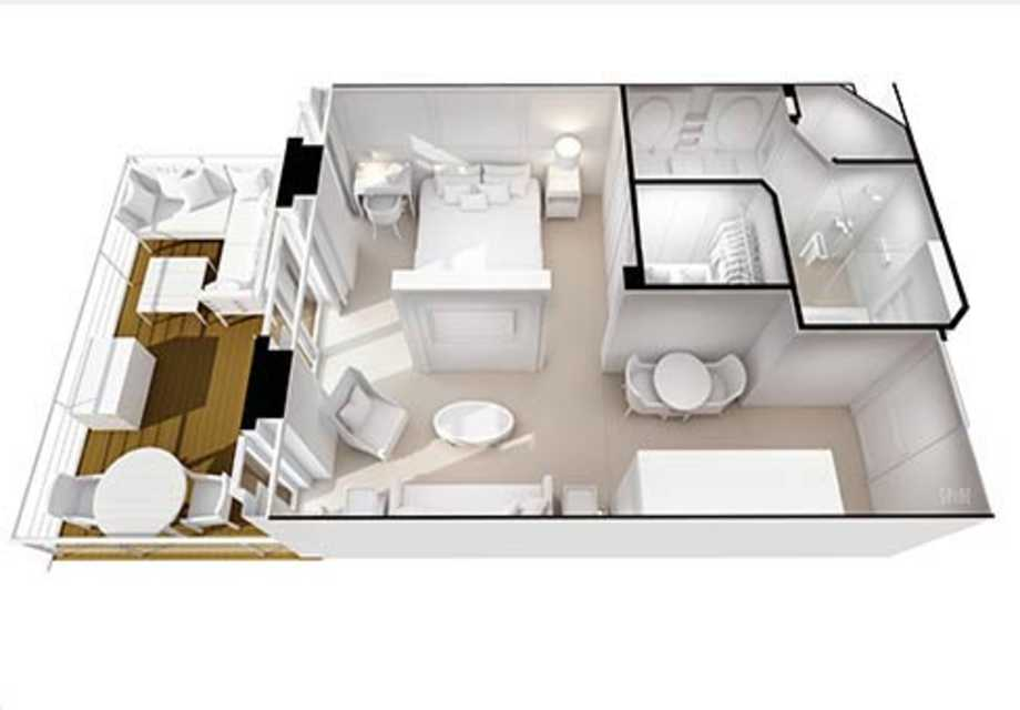Seven Seas Splendor - Rooms - Penthouse Suite - Plan