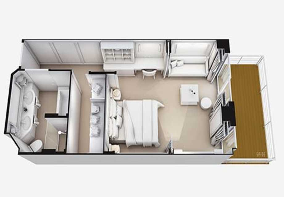 Seven Seas Superior - Rooms - Superior Suite - Plan
