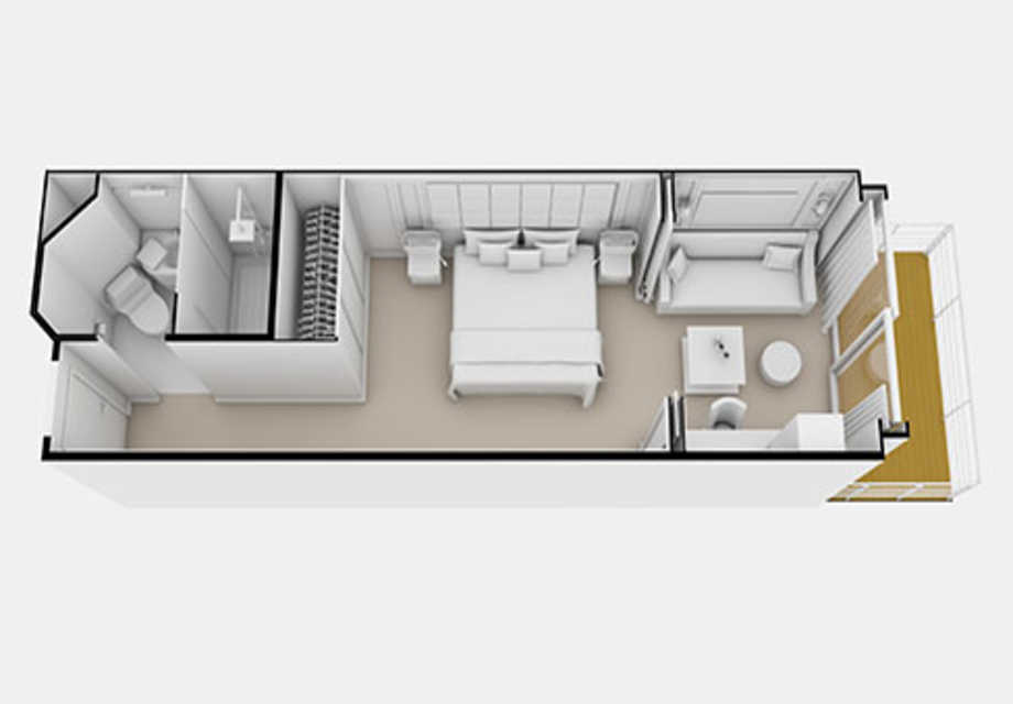 Seven Seas Explorer - Rooms - Veranda Suite - Plan