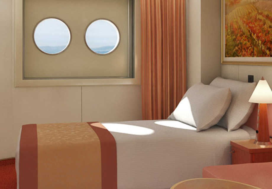 Carnival Liberty - Rooms - Interior Upper & Lower (Porthole)