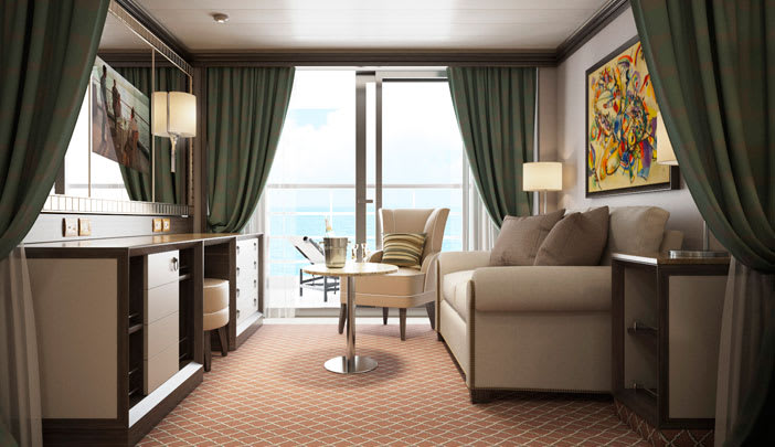 Deluxe Veranda Suite - Living area