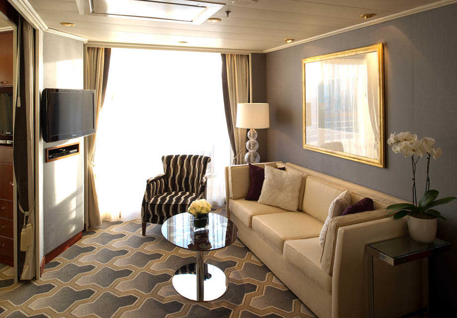 Crystal Serenity - Rooms - Penthouse Suite - living area