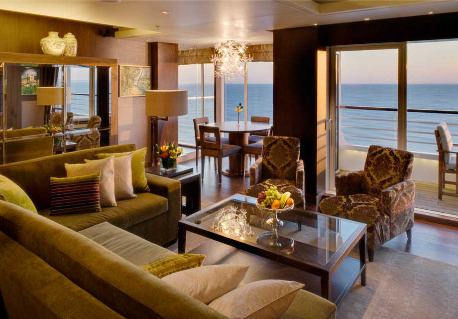 Crystal Symphony - Rooms - Crystal Penthouse - Living room