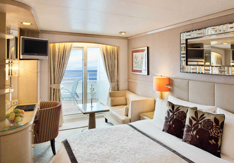 Crystal Symphony - Rooms - Deluxe Stateroom with Veranda